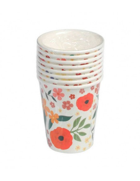 Set de 8 vasos de papel liberty