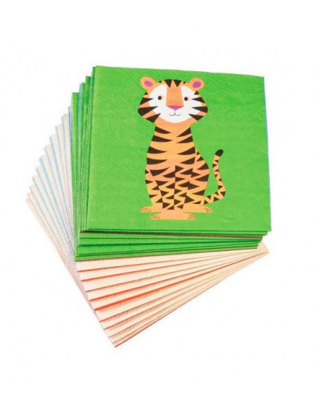 Pack de 20 servilletas de papel animales