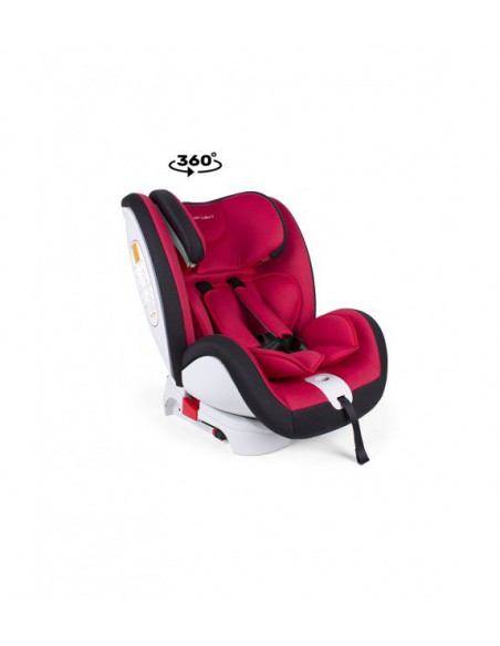 Silla Multigrupo 0-3 de 0 a 12 años giratoria y ACM color rojo Interbaby
