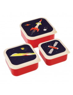 Set de 3 fiambreras Space Age