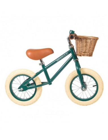 Bicicleta sin pedales First Go verde Banwood