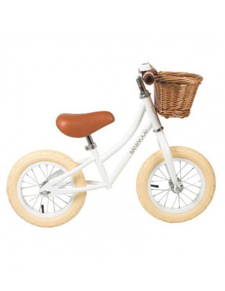 Bicicletas sin pedales First Go blanca Banwood