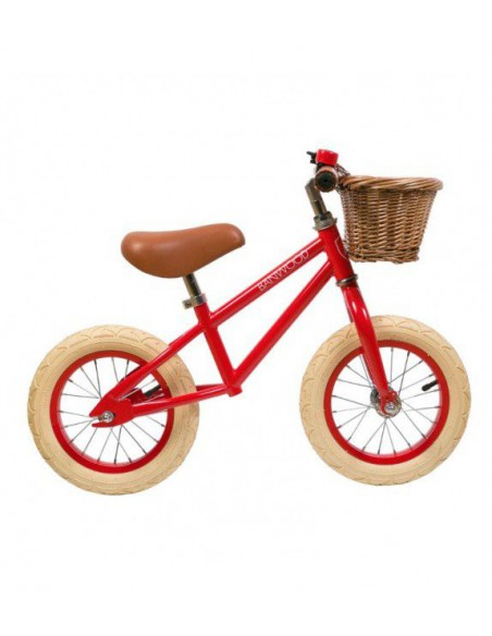 Bicicleta de arrastre First Go verde Banwood