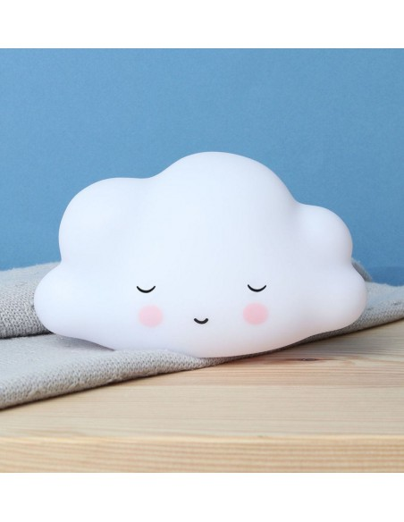 Luz quitamiedos nube blanca mini A Little Lovely Company