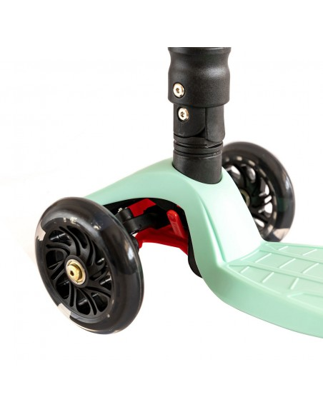 Patinete 3 ruedas ajustable con luces led color mint Mundo Petit