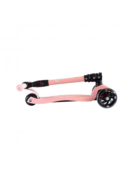 Patinete 3 ruedas ajustable con luces led color rosa Mundo Petit