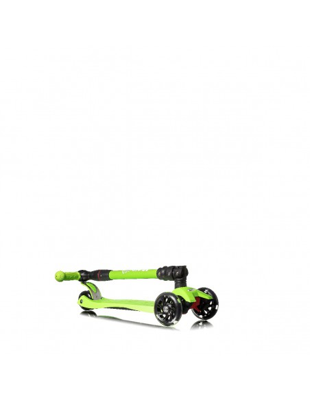 Patinete 3 ruedas ajustable con luces led color verde Mundo Petit