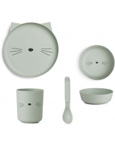 Set de bambu cat dusty mint...