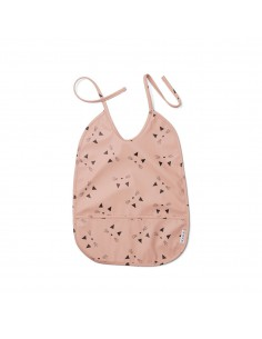 Babero Lai bib cat rose...