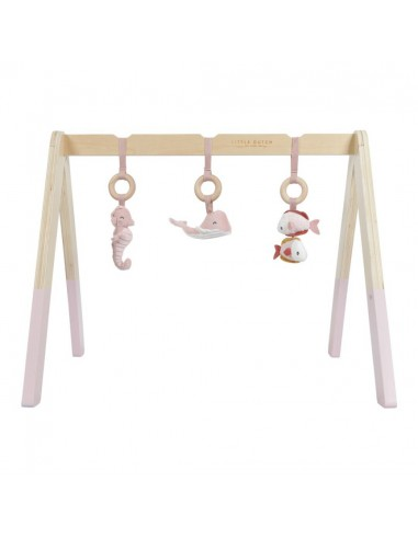 Baby gym con juguetes ocean rosa Little Dutch