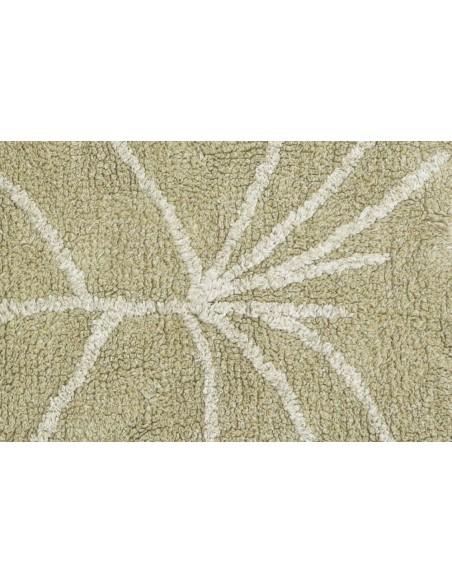 Alfombra Lavable Mini Monstera Olive de Lorena Canals